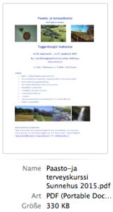 Paasto-ja terveyskurssi Sunnehus 2015 - Vorschau